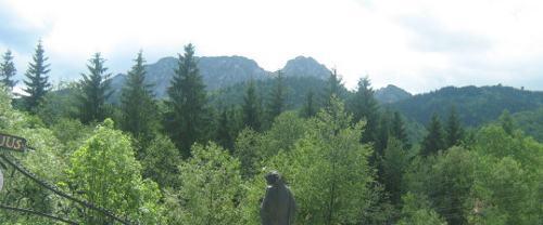 turystyka-atrakcje , Giewont widok z krzeptówek, Zakopane krzeptówki Tatry, Polska